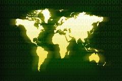 Fundo amarelo do mapa Fotografia de Stock
