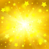 Fundo amarelo do Natal Imagem de Stock
