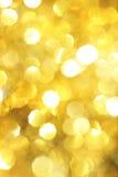 Fundo amarelo do Natal Foto de Stock