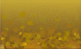 Fundo amarelo do outono Fotos de Stock Royalty Free