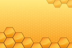 Fundo amarelo do sumário do mel Foto de Stock