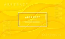 Fundo amarelo do sumário, o dinâmico e o Textured para cartazes, folhetos, bandeiras, página da web, tampas, e outro ilustração do vetor