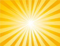 Fundo amarelo do sunburst Ilustração Stock
