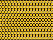Fundo amarelo do teste padrão do favo de mel da cor Fotos de Stock Royalty Free