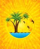 Fundo amarelo do verão ilustração stock