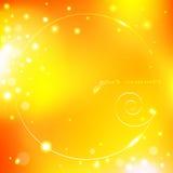 Fundo amarelo do verão com escudo Imagem de Stock