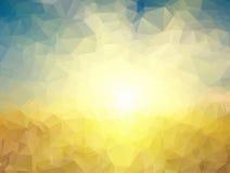 Fundo amarelo e azul dos polígono Imagem de Stock