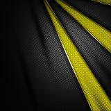 Fundo amarelo e preto da fibra do carbono Fotos de Stock Royalty Free