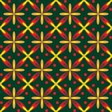 Fundo amarelo e vermelho sem emenda Fotografia de Stock Royalty Free