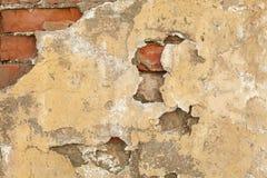 Fundo amarelo velho da parede das texturas Fundo perfeito foto de stock