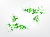 Fundo ambiental com as borboletas verdes da folha Imagem de Stock Royalty Free