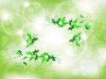 Fundo ambiental com as borboletas verdes da folha Fotografia de Stock
