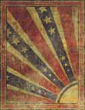 Fundo americano desvanecido e vestido da bandeira dos Estados Unidos do Grunge Foto de Stock