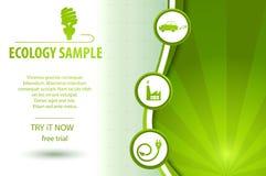Fundo amigável de Eco ilustração stock