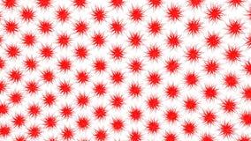 Fundo animado abstrato do vermelho 3d rendem video estoque