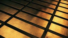 Fundo animado com barras de ouro filme