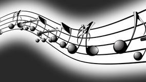 Fundo animado com notas musicais, notas da música - LAÇO ilustração do vetor