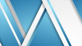 Fundo animado de movimentos geométricos corporativos abstratos e azuis ilustração royalty free