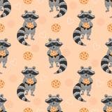 Fundo animal engraçado no estilo dos desenhos animados Fotografia de Stock