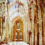 Fundo antigo da arquitetura Ilustração do Vetor