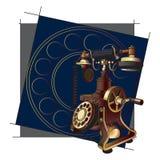 Fundo antiquado do telefone ilustração royalty free