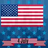 Fundo ao dia da independência América colorido Imagens de Stock