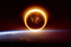 Fundo apocalíptico abstrato Imagens de Stock Royalty Free
