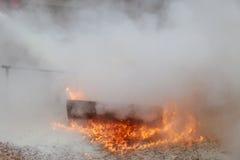 Fundo ardente da textura da chama do fogo da chama Fotografia de Stock Royalty Free