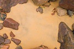 Fundo: areia Fotos de Stock Royalty Free