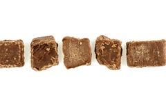 Fundo aéreo da sobremesa do caramelo com copyspace Fotografia de Stock