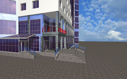 Fundo arquitectónico com parte do edifício Imagens de Stock Royalty Free