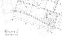 Fundo arquitetónico do vetor Imagem de Stock