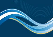 Fundo artístico azul da onda Fotografia de Stock