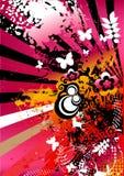 Fundo artístico colorido ilustração stock