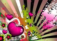 Fundo artístico colorido Imagens de Stock