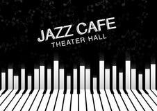 Fundo artístico da noite do jazz Cartaz para o festival de jazz Imagens de Stock Royalty Free