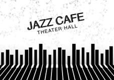 Fundo artístico da noite do jazz Cartaz para o festival de jazz Fotografia de Stock Royalty Free