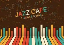 Fundo artístico da noite do jazz na cor Cartaz para o festival de jazz Fotos de Stock Royalty Free