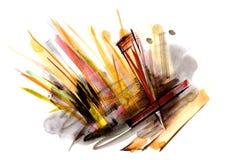 Fundo artístico da pintura abstrata ilustração do vetor