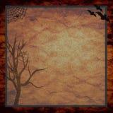 Fundo assustador da árvore de Haloween Fotografia de Stock Royalty Free