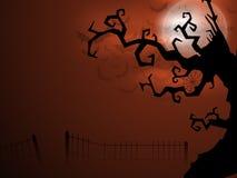 Fundo assustador da noite da Lua cheia de Halloween. Fotos de Stock