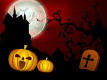 Fundo assustador da noite da Lua cheia de Halloween. Imagem de Stock Royalty Free