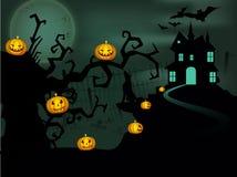 Fundo assustador da noite de Halloween. Foto de Stock