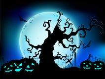Fundo assustador da noite de Halloween. Fotografia de Stock