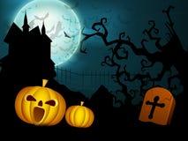 Fundo assustador da noite de Halloween Fotos de Stock