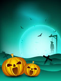Fundo assustador da noite de Halloween Fotos de Stock Royalty Free