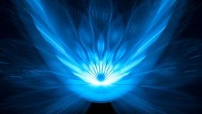 Fundo asteroide de incandescência do sumário do fundo do impacto 8k do azul ilustração royalty free