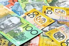 Fundo australiano do dinheiro Foto de Stock Royalty Free