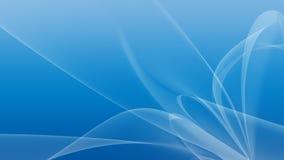 Fundo azul ártico da Aurora Foto de Stock Royalty Free