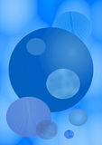 Fundo azul Fotos de Stock Royalty Free